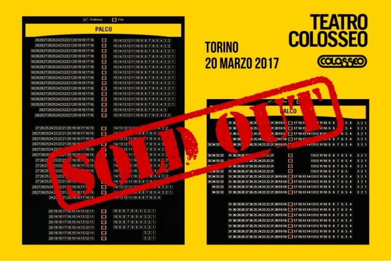 Concerto a Torino: SOLD OUT